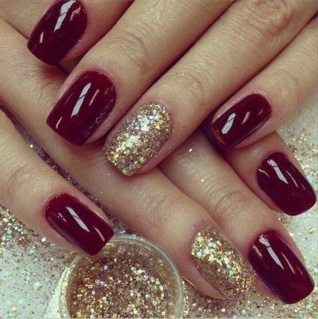 Red And Gold Nail Designs Tumblr 15 Creative Nail Desig...