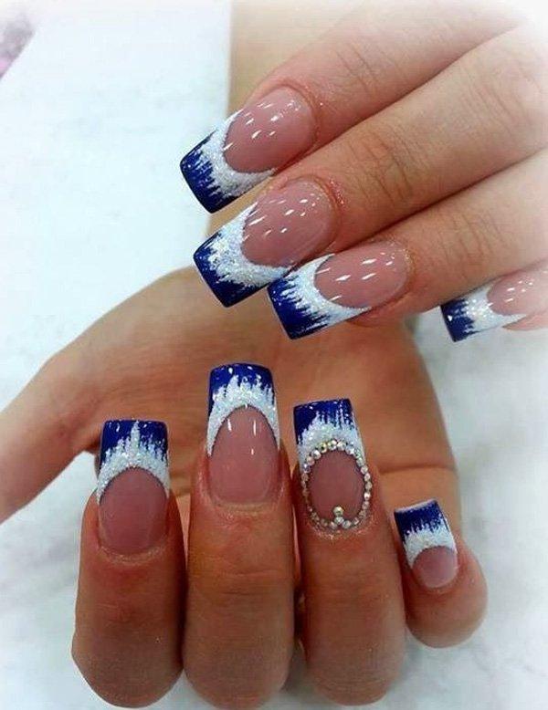Similiar Blue French Tip Nail Designs Keywords